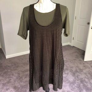 Eileen Fisher Dress Tee Combo Size M